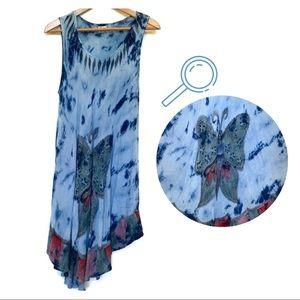 Advance Apparels Boho Tie Dye Butterfly Dress